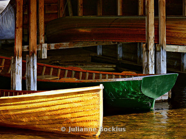Rowboats in Boathouse