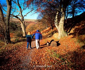 couple walking on taff trail quakers yard merthyr valley south wales valleys