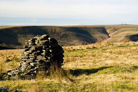 Carn Fawr ancient monument, Mynydd William Meyrick, above the Ogwr Valley, South Wales.
