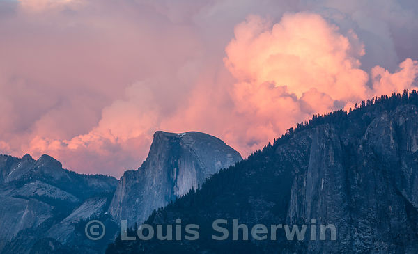Thunderstorms brewing over Half Dome