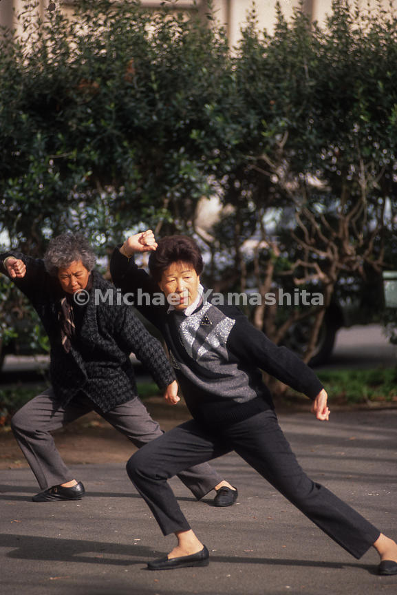 Tai Chi in Chinatown.San Francisco, California