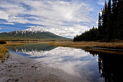 Mount Bachelor reflecting in Sparks Lake, Oregon Cascades.