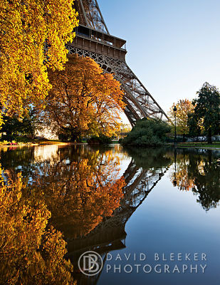 Autumn Reflection at the Eiffel Tower