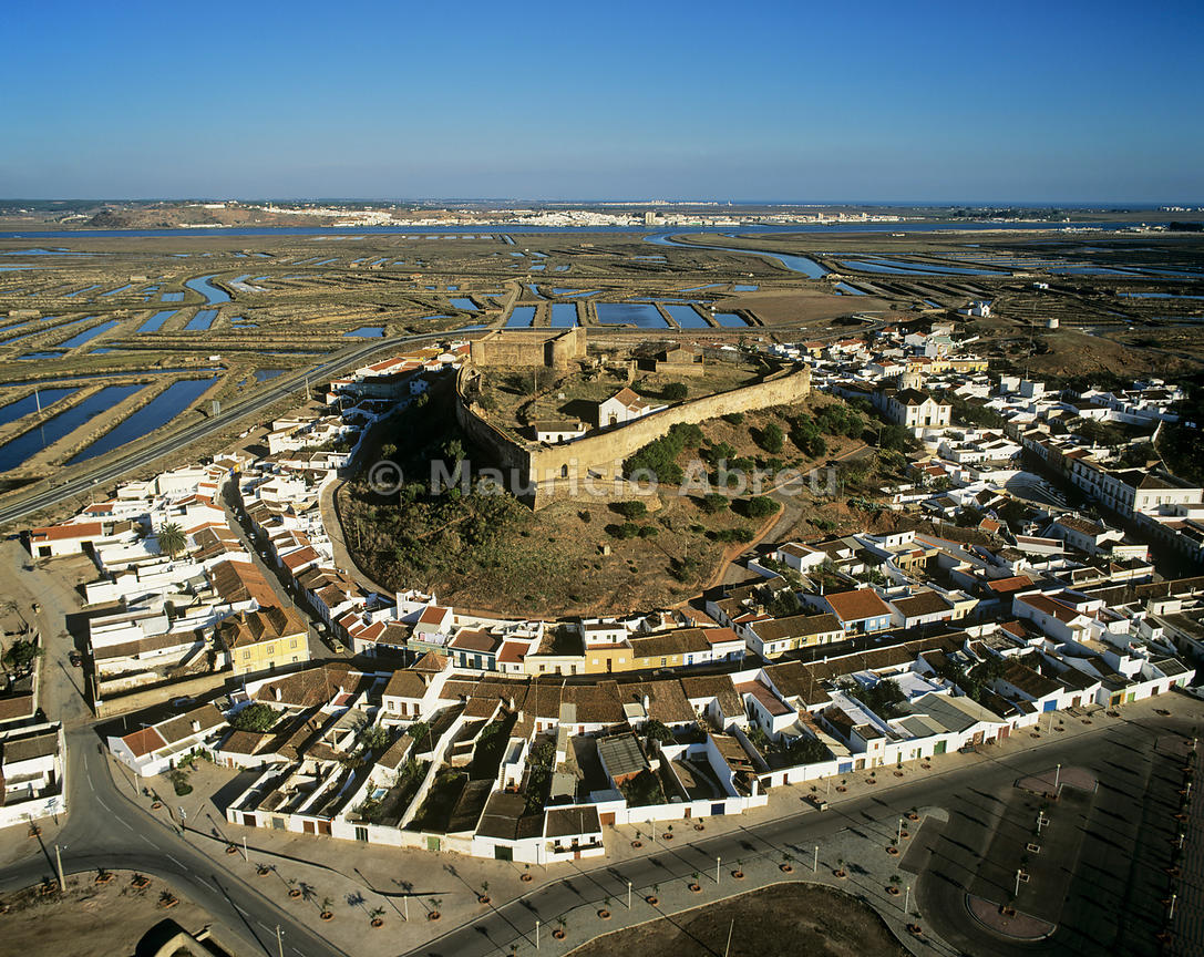 images of portugal aerial view of castro marim and the. Black Bedroom Furniture Sets. Home Design Ideas