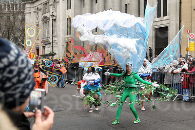 Carnival Dancers at the London New Year Parade 2011
