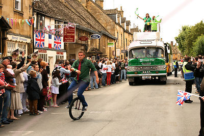 Unicyclist at Olympic Torch Relay