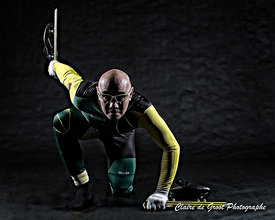 Tough short track speed skating sports portrait