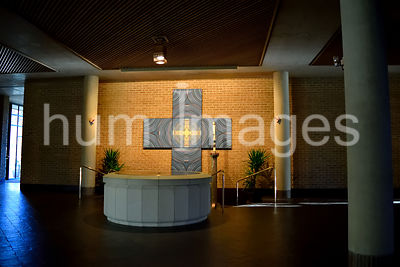 Religious Stock Photos: Holy Water in a Catholic Church
