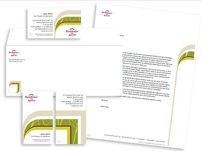 Residence Inn by Marriott Stationery Package