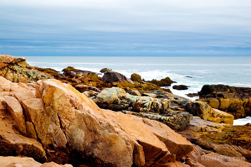 ROCKY COASTLINE ACADIA NATIONAL PARK MAINE