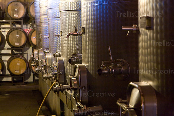A view of a winemaking facility