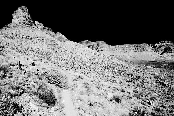 CLEAR CREEK TRAIL GRAND CANYON NATIONAL PARK BLACK AND WHITE