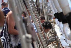 Belaying pins, four masted barque Sedov