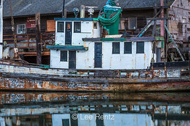 Old Boat in Outer Noyo Harbor, Fort Bragg, California