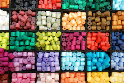 Colourful beads for necklaces and bracelets