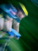 Mountain biker mouvement