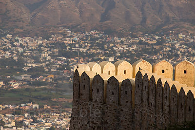 Ramparts of Taragarh Fort, Ajmer, Rajasthan, India