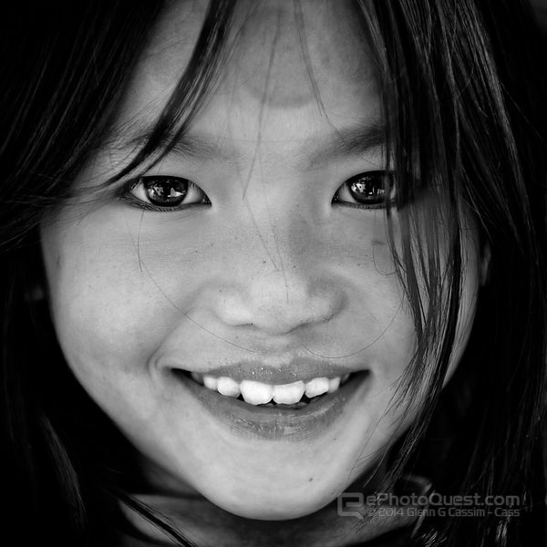 Black Hmong Girl Close-Up