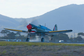 P40 Kittyhawk on touch down