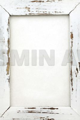 Empty white wood frame with copy space