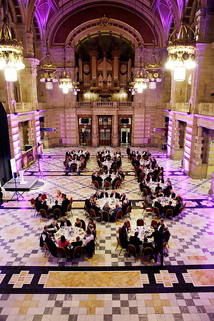City Chambers, Glasgow and at night Kelvingrove Art Gallery and Museum, Glasgow..21.10.15.Prof Jim Blair, new President of the CIWM..Picture Copyright:.Iain McLean,.79 Earlspark Avenue,.Glasgow.G43 2HE.07901 604 365.photomclean@googlemail.com.www.iainmclean.com.All Rights Reserved.No Syndication