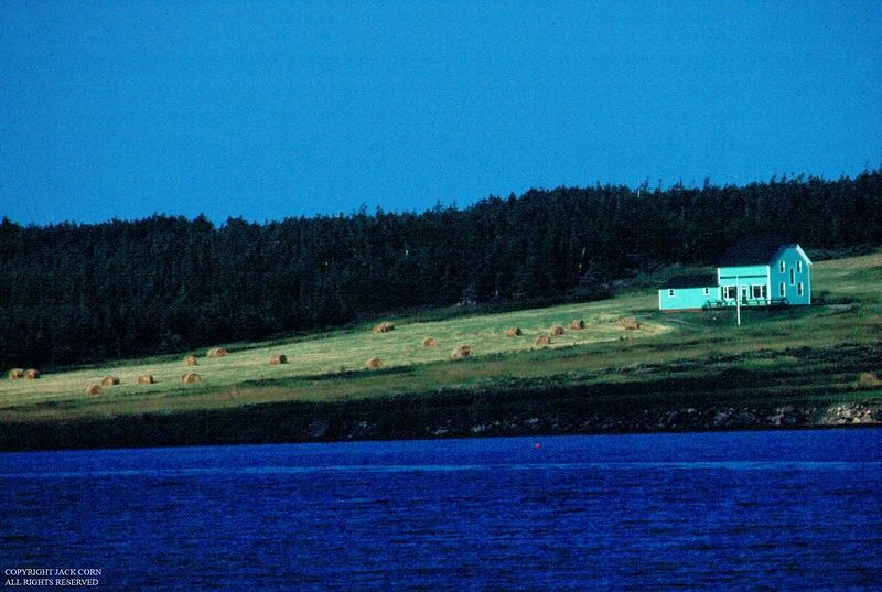 Green house on bay in Nova Scotia