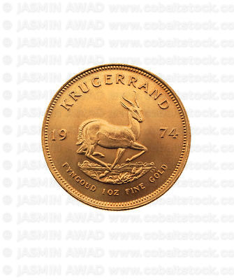 Krugerrand Gold Coin  on white