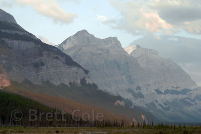 Pastel hues of the Rockies near dusk. Banff NP, Canadian Rockies.