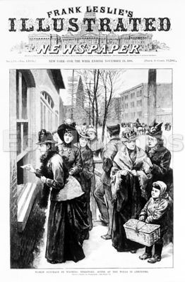 Women vote in Cheyenne, Wyoming, 1888