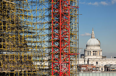 Tate Modern Extension - Scaffolding photography