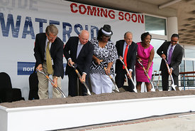 Ground breaking for Waterside District