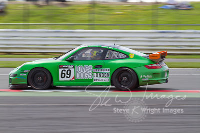 APO Motorsport's Porsche 911 GT4 in action at the Silverstone 500 - the third round of the British GT Championship 2014 - 1st June 2014