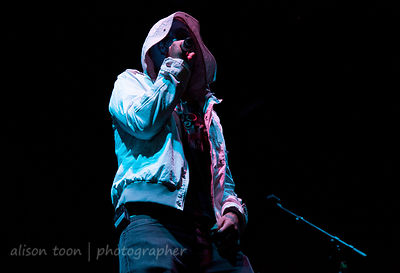 SACRAMENTO, CA - SEPTEMBER 23: Hollywood Undead performing at the Aftershock music festival, Sacramento CA, on September 23, 2012.