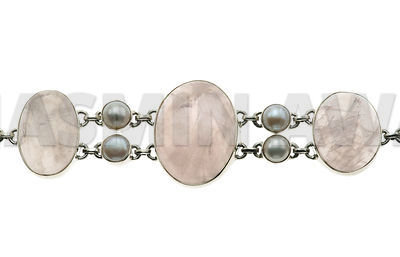Bracelet_with_rose_quartz_silver_and_pearls