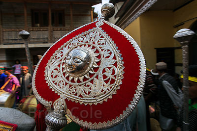 Silver idol of Lord Raghunath on parade during the Dussehra festival in Kullu, India