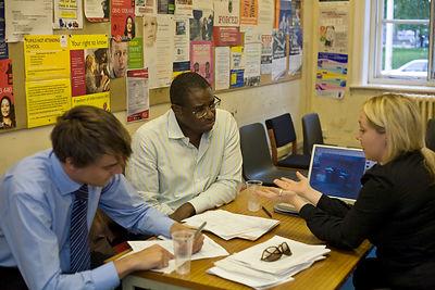 UK - London - David Lammy MP listens to constituents at his regular surgery