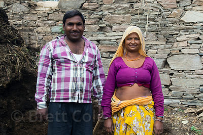 Husband and wife flower farmers, Shrinagar, Rajasthan, India