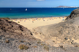 Playa de la Cera beach, Papagayo Peninsula, Playa Blanca, Lanzarote, Canary Islands, Spain.