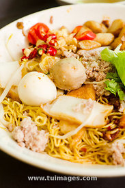 singapore food, minced meat noodles