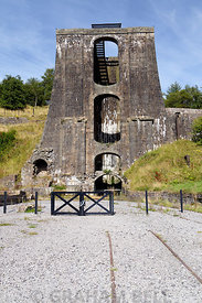 Water Balance Tower, Blaenavon Ironworks part of the UNESCO World Heritage Site, Blaenavon, South Wales Valleys, Wales, UK.
