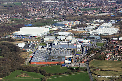 aerial photograph of the Heinz Factory in Wigan   Lancashire