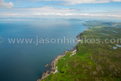 Aerial view of the coast of Jura, Inner Hebrides, Scotland