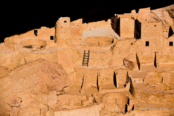 CLIFF PALACE ANCESTRAL PUEBLOAN ARCHEOLOGICAL SITE MESA VERDE NATIONAL PARK COLORADO