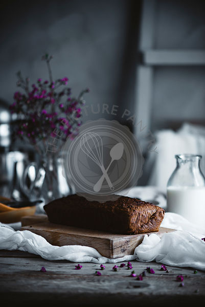A cake on a table in a country kitchen
