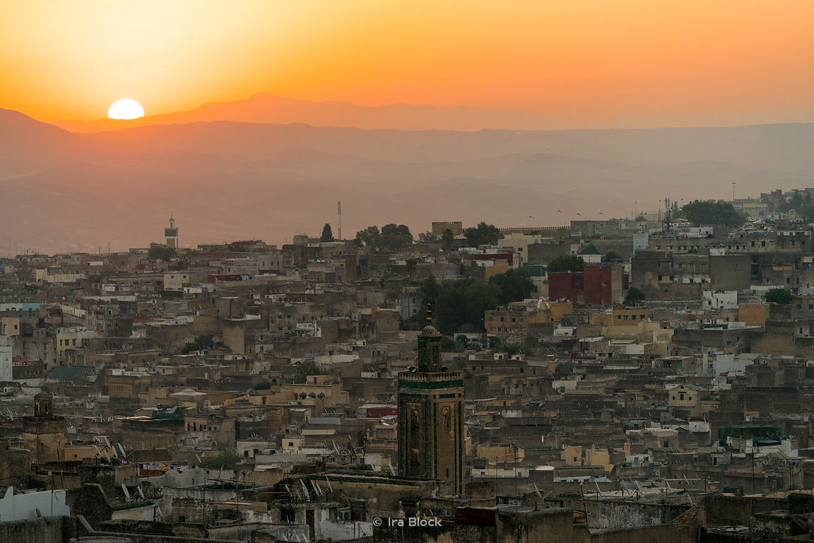 Sunrise over Fes Medina in Morocco