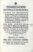 18th-century manuscript about Meridian line dividing Spain and Portugal
