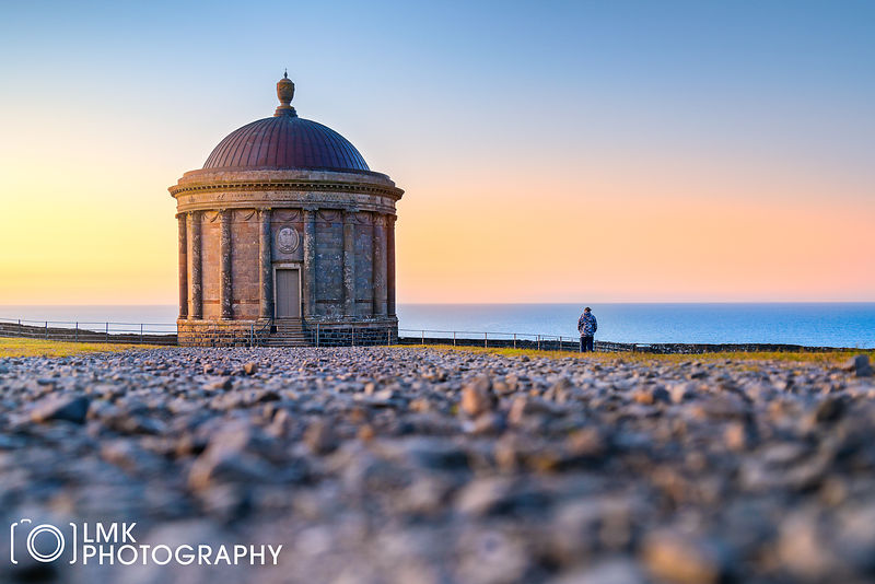 Mussenden Temple Sunset Low