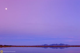 Sutter Buttes & Moon