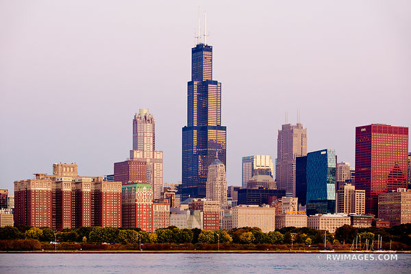 WILLIS TOWER CHICAGO SEARS TOWER CHICAGO DOWNTOWN COLOR