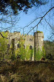 Ruins of 17th Century, Ruperra Castle near Caerphilly, South Wales, UK.